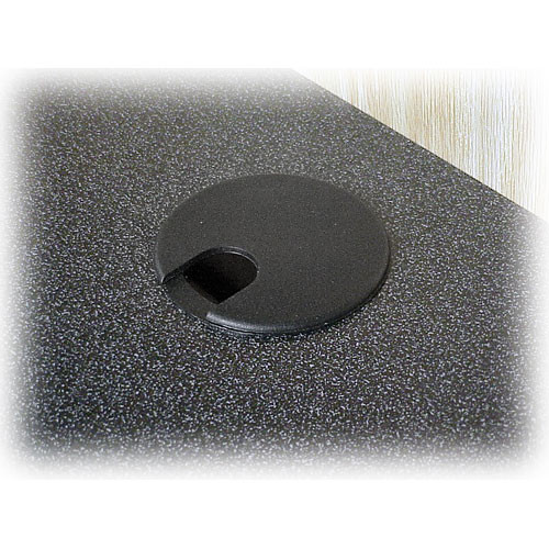 BEI Audio Visual Products Extra Grommet in the Work Surface of the Multi-Media Lectern