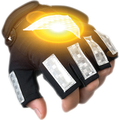 Brite-Strike Active Illumination Reflective Sport Gloves (Large)