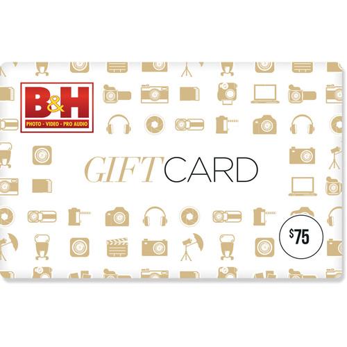 B&H Photo Video $75 Gift Card