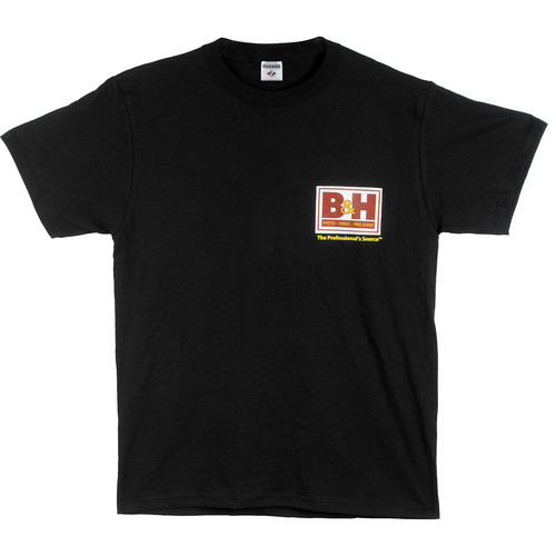 B&H Photo Video Web Logo T-Shirt (Large, Black)