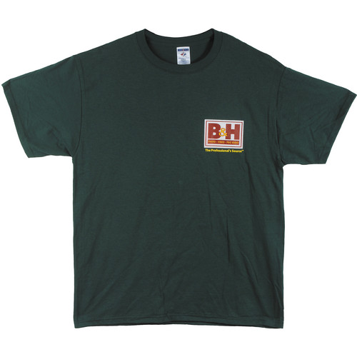 B&H Photo Video Web Logo T-Shirt (Medium, Green)