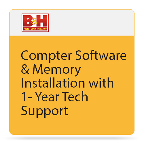 B&H Photo Video Computer Software & Memory Installation with 1-Year Tech Support