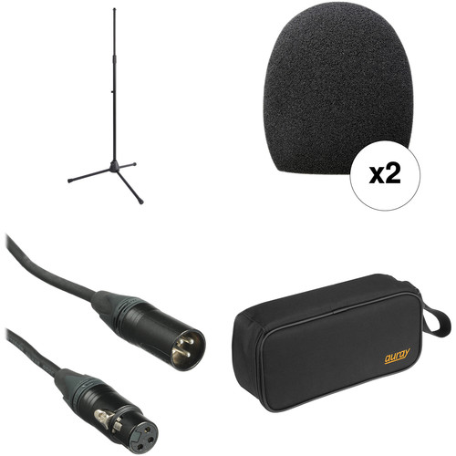B&H Photo Video Handheld Microphone Accessory Kit with Pouch and Tripod Stand