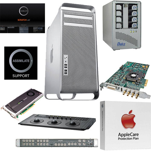 B&H Photo Mac Pro Workstation Turnkey System with an Apple Mac Pro, Assimilate Scratch Lab and Control Surface