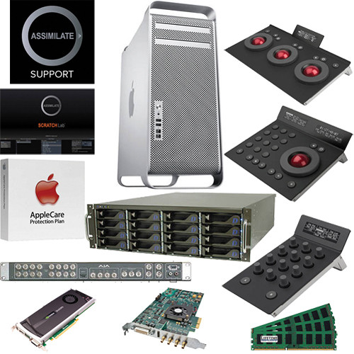 B&H Photo Mac Pro Workstation Turnkey System with an Apple Mac Pro, Assimilate Scratch Lab and Element Control Panels
