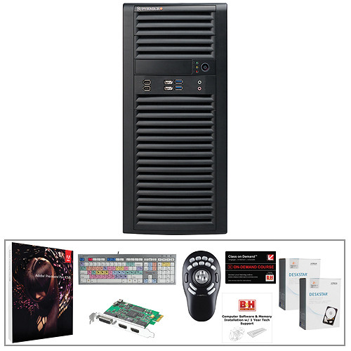 B&H Photo PC Pro Workstation SuperMicro Desktop Workstation Kit with Adobe Premiere Pro CS6 and Intensity Shuttle