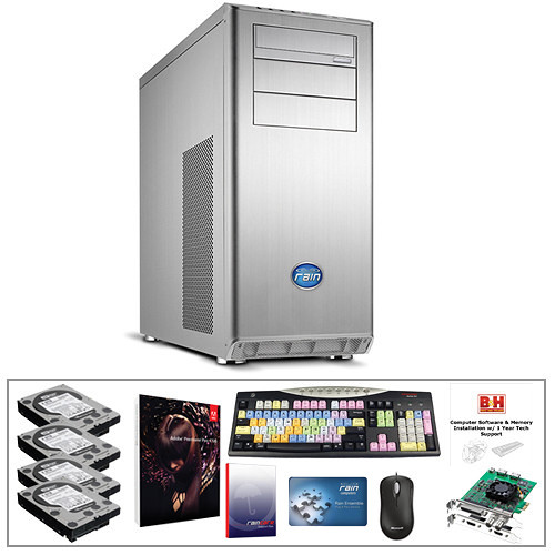 B&H Photo PC Pro Workstation Turnkey System with a Rain Computers Element VFX and Premiere Pro CS6