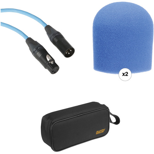 B&H Photo Video Performance Microphone Windscreen & XLR Cable ID Kit (Blue)
