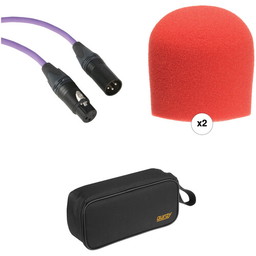 B&H Photo Video Performance Microphone Windscreen & XLR Cable ID Kit (Red)