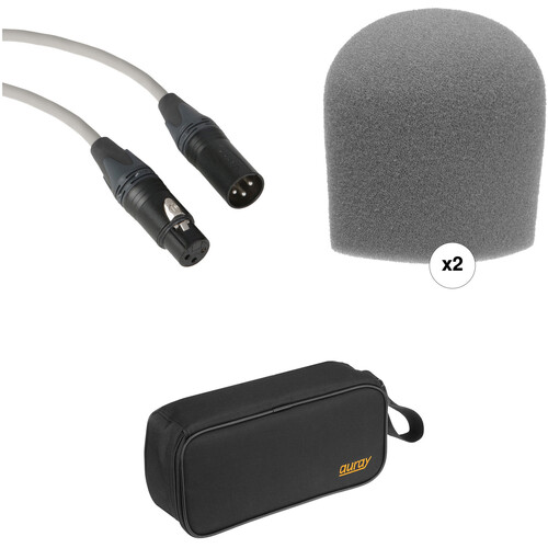 B&H Photo Video Performance Microphone Windscreen & XLR Cable ID Kit (Gray)