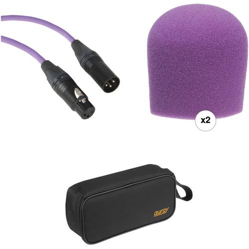 B&H Photo Video Performance Microphone Windscreen & XLR Cable ID Kit (Purple)
