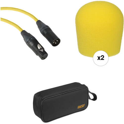 B&H Photo Video Performance Microphone Windscreen & XLR Cable ID Kit (Yellow)