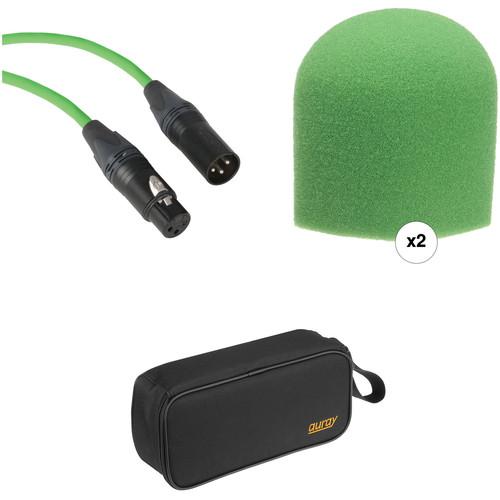 B&H Photo Video Performance Microphone Windscreen & XLR Cable ID Kit (Green)