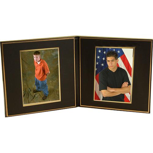 "B. Oshrin Double 5x7"" Folio (Gold Lines)"