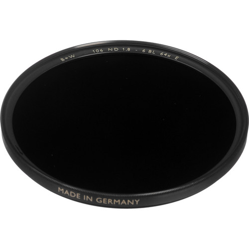 B+W 55mm SC 106 Solid Neutral Density 1.8 Filter (6 Stop)