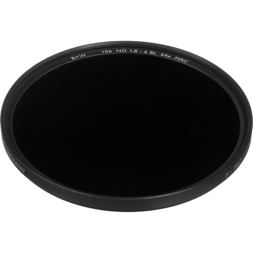 B+W 62mm MRC 106M Solid Neutral Density 1.8 Filter (6 Stop)