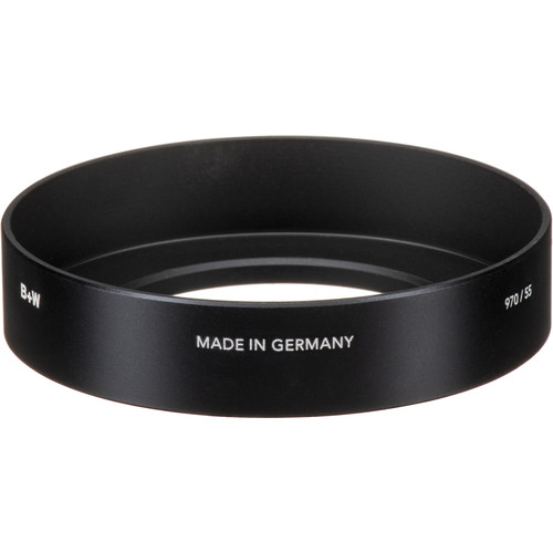 B+W 55mm Screw-In Metal Wide Angle Lens Hood #970