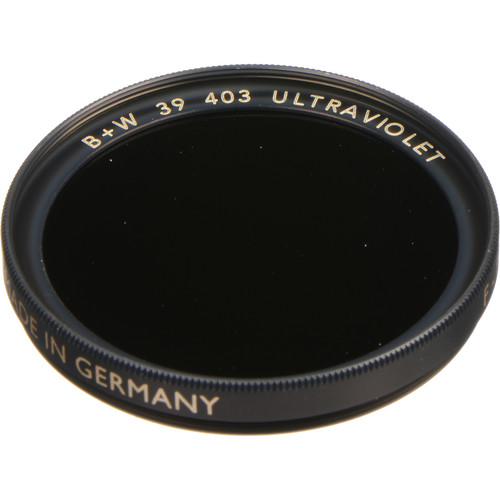 B+W 39mm UV Black (403) Filter