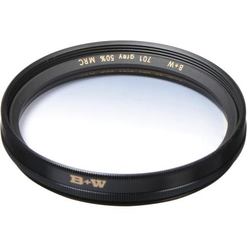 B+W 49mm Hard Edge Graduated Neutral Density 701 MRC 0.3 Filter (1-Stop)