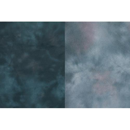 Backdrop Alley Reversible Muslin Backdrop (10 x 24', Aqua Night/Blue Meadow)