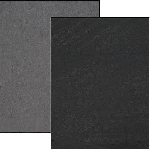 Backdrop Alley Reversible Muslin Backdrop (10 x 24', Charcoal Gray/Lighter Gray)