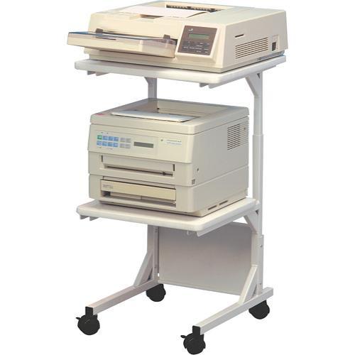 Balt Adjustable Dual Laser Printer Stand, Model DBL 22001 (Gray)