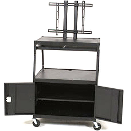 Balt Model 27531, Wide Body Flat Panel TV Cart with Cabinet (Black)