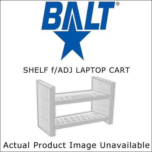Balt Optional Shelf for Adjustable Laptop Cart, Model 34410 (Black)