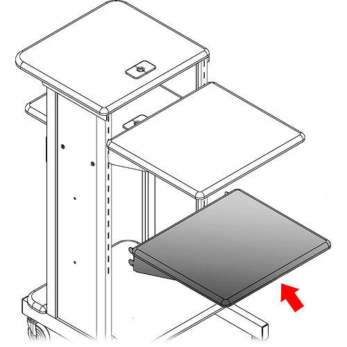 Balt Presentation Shelf