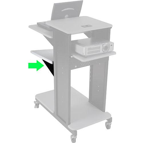 Balt Accessory Shelf for Xtra Long Presentation Cart (Gray)