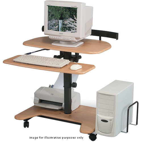 Balt Hi-Lo-3 Workstation, Model 45972 (Teak)