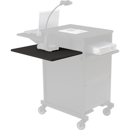 Balt 66611 Xtra Wide Presentation Cart Shelf (Black)