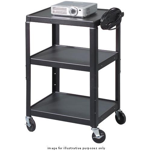 Balt Adjustable A/V Utility Cart, Model 85892 (Black)