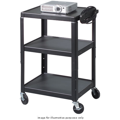 Balt Adjustable A/V Utility Cart, Model 85892 (Black)