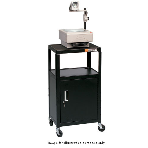 Balt Adjustable A/V Utility Cart, Model 85992  (Black)