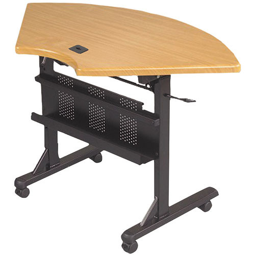 Balt Flipper Table, Model 89815 (Teak Quarter Round)