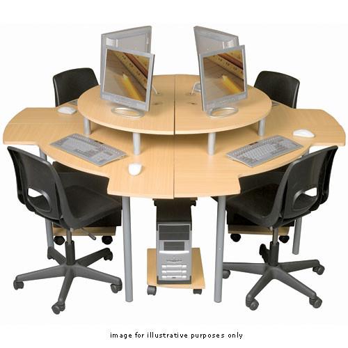 Balt Corner Desk Cluster (2 Right, 2 Left), Model 89836 (Teak)