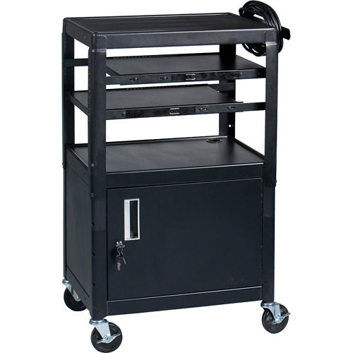 Balt Dual Adjustable Laptop Cart (Black)