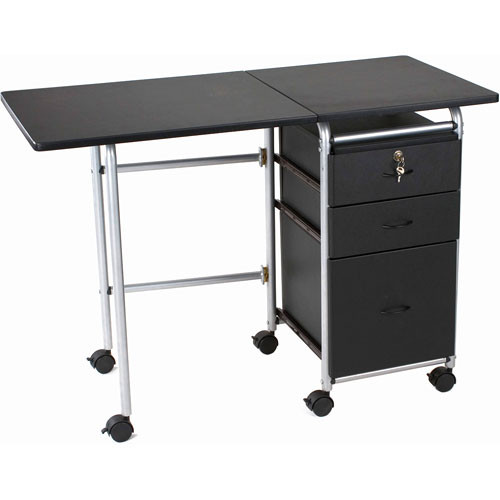 Balt Fold-N-Stow Workstation (Black)