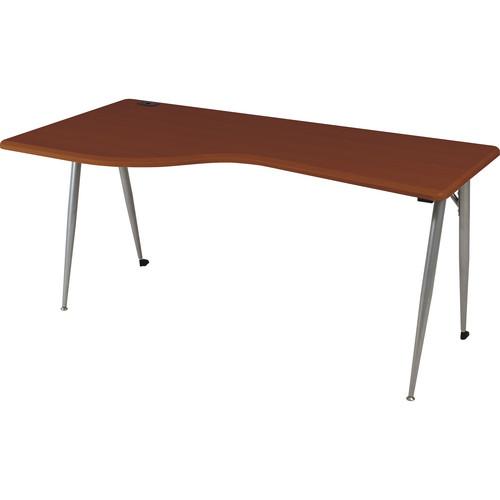 Balt iFlex Large Desk (Left, Cherry/Platinum)
