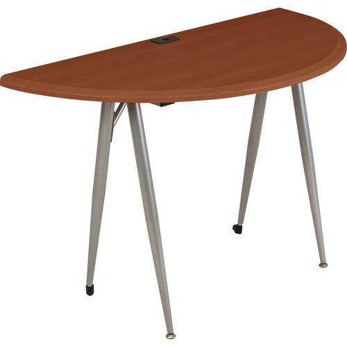 Balt iFlex Small Desk (Half Round, Cherry)