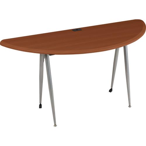 Balt iFlex Large Desk (Half Round, Cherry)