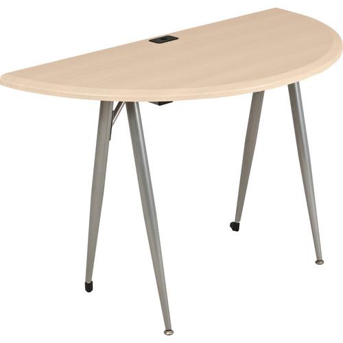 Balt iFlex Small Desk (Half Round, Teak)