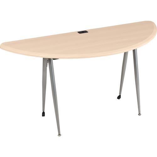 Balt iFlex Large Desk (Half Round, Teak)