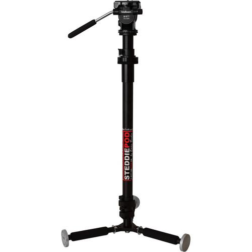 Barber Tech SteddiePod Camera Support With Velbon Pan & Tilt Head, Swivel Handle