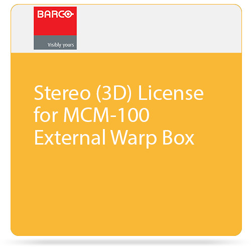 Barco Stereo (3D) License for MCM-100 External Warp Box
