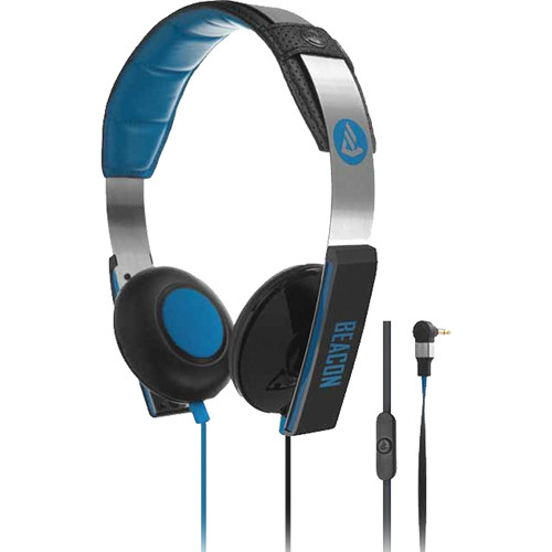 Beacon Audio Orion On-Ear Headphones With In-Line Mic (Blue)