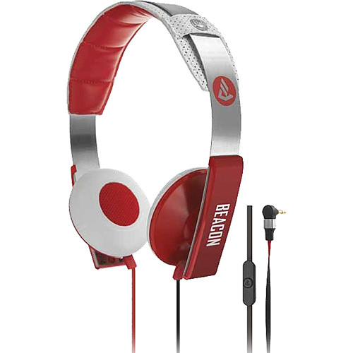 Beacon Audio Orion On-Ear Headphones With In-Line Mic (Red)