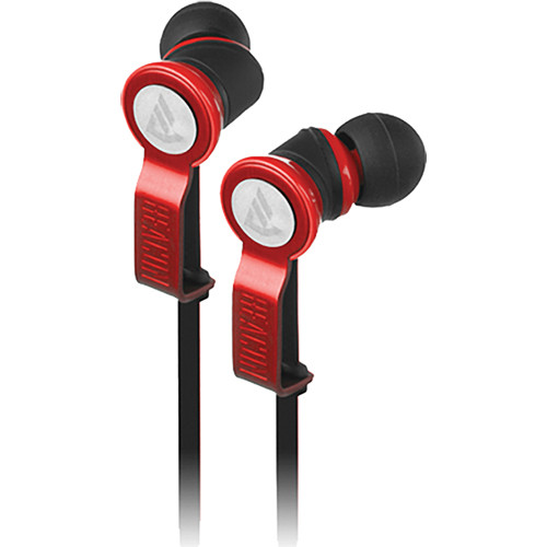 Beacon Audio Perseus In-Ear Buds With In-Line Mic (Red)