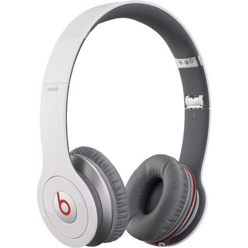 Beats by Dr. Dre Solo HD - On-Ear Headphones (White) with Mic/Remote Control on Cable